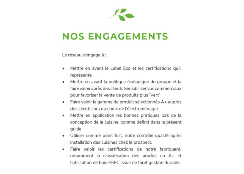 Ecocuisine souhaite aujourd'hui mettre au profit de ses clients son engagement ECO-responsable.
