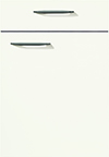 Façade laqué, blanc mat alpin pour la cuisine  par ECOCUISINE