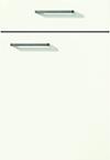 Façade laque laminate, blanc alpin super mat pour la cuisine  par ECOCUISINE