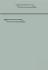 Façade laque laminate, gris pierre super mat pour la cuisine  par ECOCUISINE