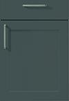 Façade laque laminate, gris ardoise pour la cuisine  par ECOCUISINE