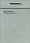 Façade laque, gris ciment pour la cuisine  par ECOCUISINE