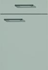 Façade laqué, gris pierre mat pour la salle de bain Evolution-Bath par ECOCUISINE