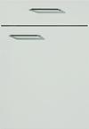 Façade laqué, gris soie mat pour la salle de bain Evolution-Bath par ECOCUISINE