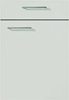 Façade laque laminate, gris soie super mat pour la salle de bain Emotion-Bath par ECOCUISINE