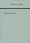 Façade laque laminate, gris pierre super mat pour la salle de bain Emotion-Bath par ECOCUISINE