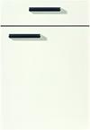 Façade laque laminate, blanc alpin brillant pour la salle de bain Idea-Bath par ECOCUISINE