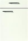 Façade laqué, blanc alpin brillant pour la salle de bain Icône-Bath par ECOCUISINE