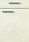 Façade béton blanc pour la salle de bain Quadra-Bath par ECOCUISINE
