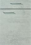 Façade béton gris pour la salle de bain Quadra-Bath par ECOCUISINE