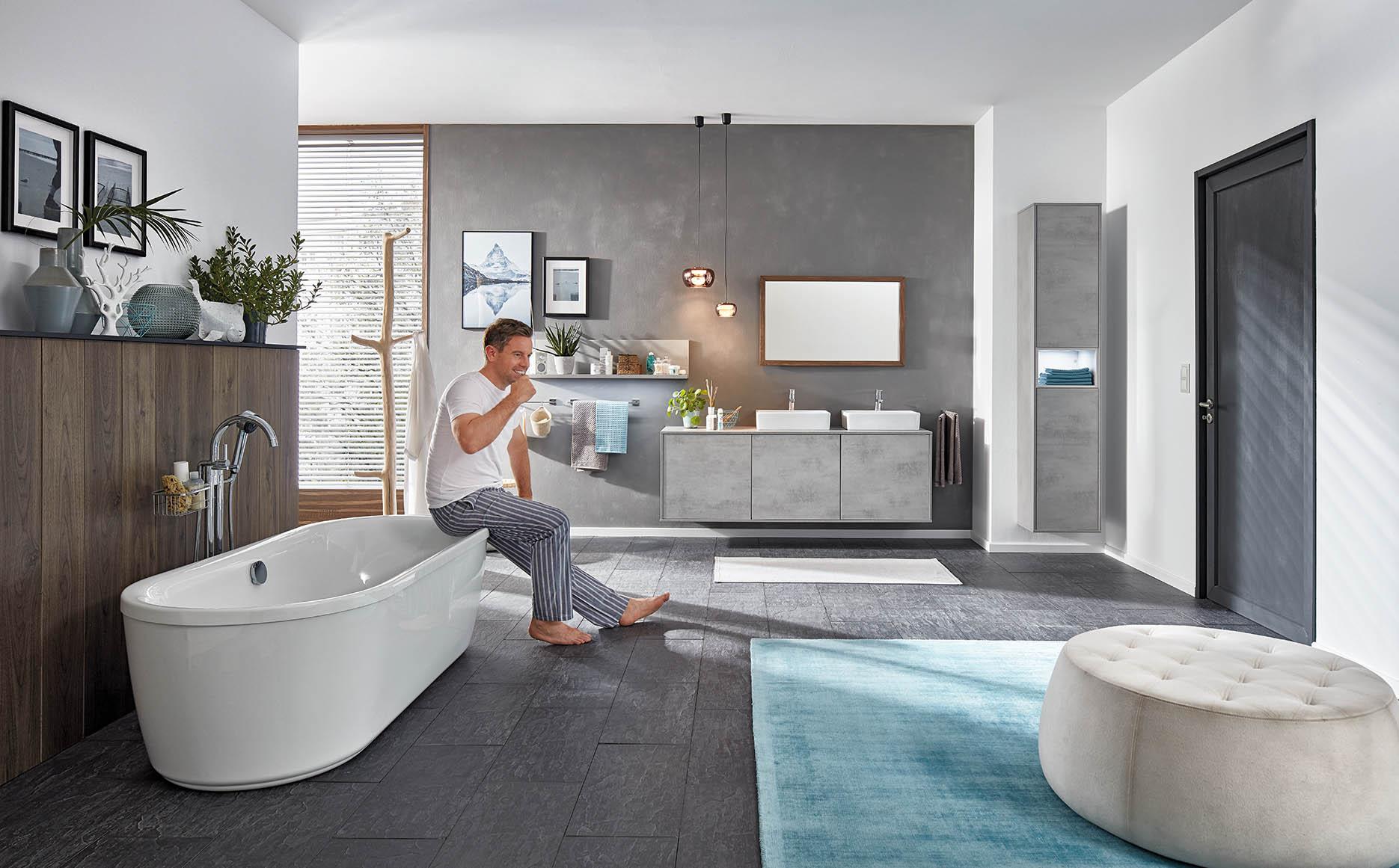 Salle de bain modèle Quadra-Bath par ECOCUISINE