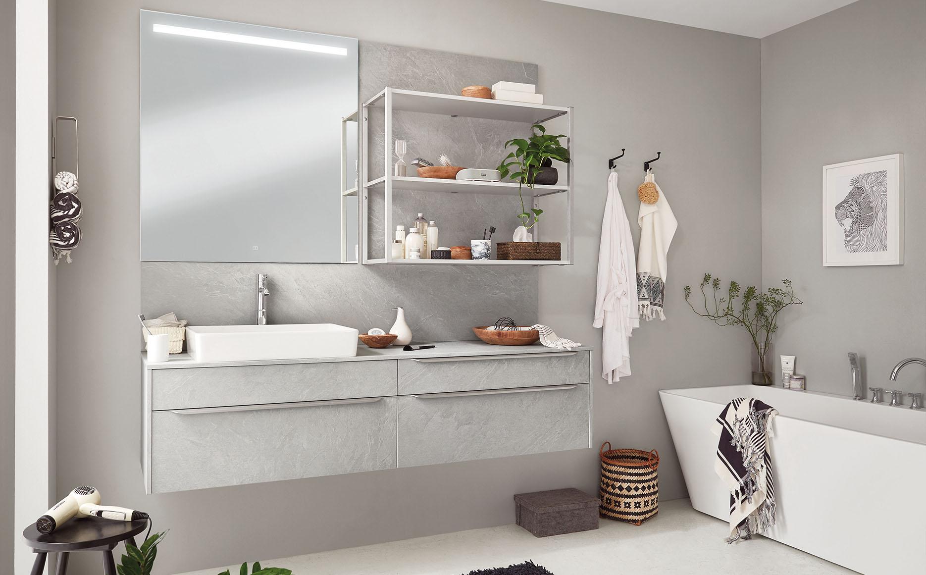 Salle de bain modèle Pietra-Bath par ECOCUISINE