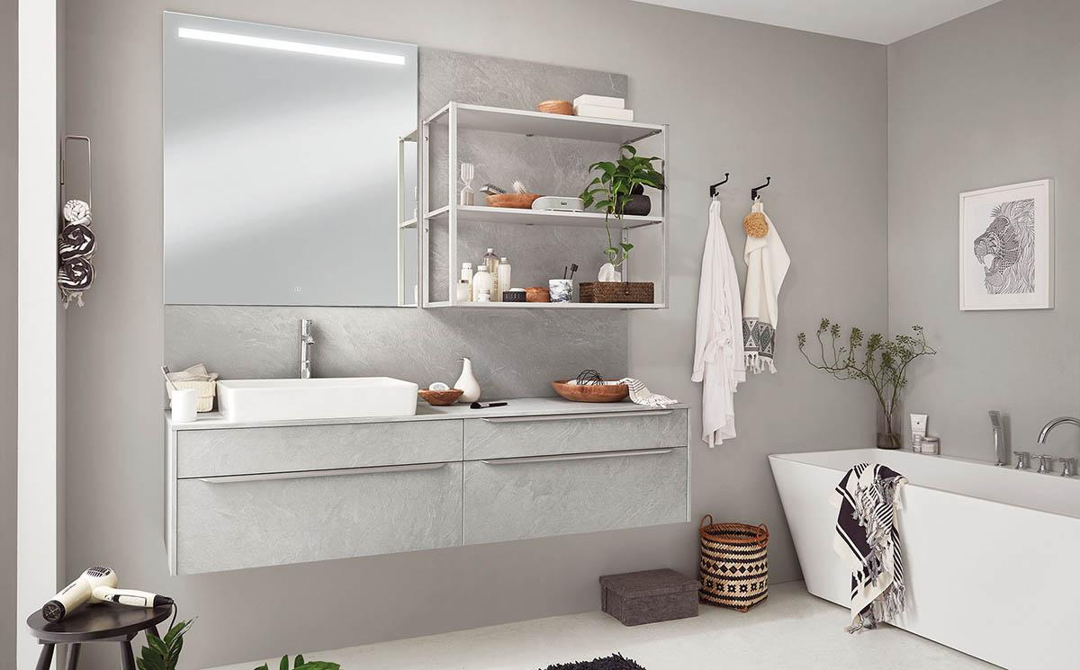 Salle de bain Pietra-Bath par ECOCUISINE