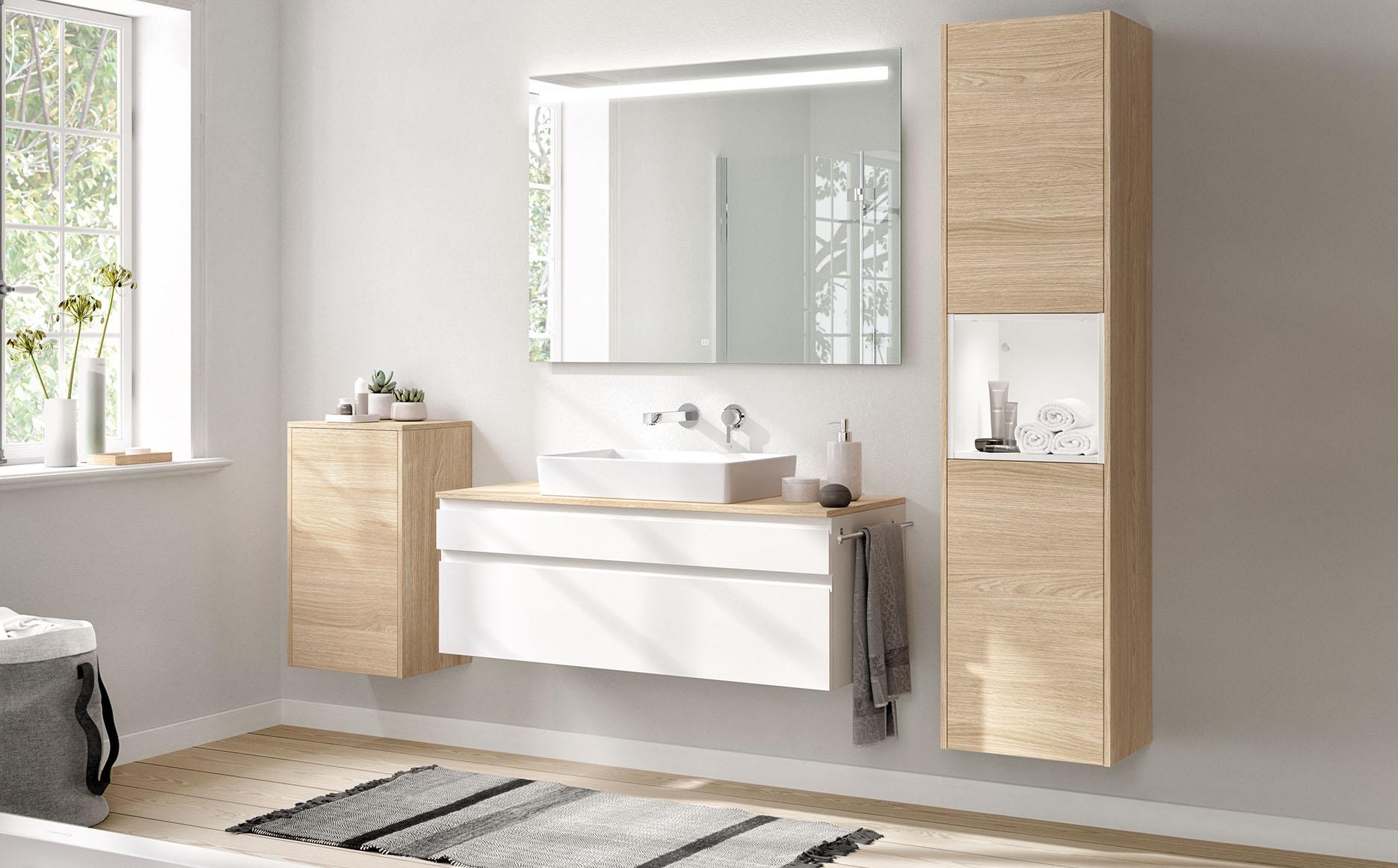 Salle de bain modèle Linea-Bath par ECOCUISINE